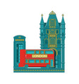 london city buildings silhouettelondon cityscape vector image