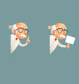 look out corner old wise scientist character icons vector image vector image