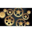 machine gears vector image vector image