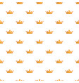 milady crown pattern seamless vector image vector image