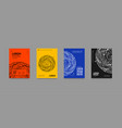 minimal covers set with future geometric design vector image vector image