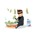 Money Laundering Concept Flat Design vector image vector image