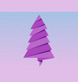 paper christmas tree rose quartz and serenity of vector image