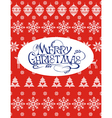 Red knitted sweater with snowflakes vector image