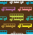 Retro bus seamless pattern vector image vector image
