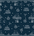 seamless pattern with cute funny cartoon character vector image