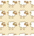 Seamless pattern with sheep on warm dotted vector image vector image