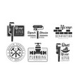 set of black and white logos for plumbing vector image