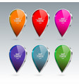 shiny gloss map pointer icon vector image