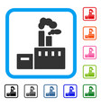 smoking factory framed icon vector image