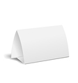 table paper card vector image vector image