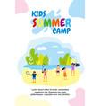 vertical flat banner kids summer camp holidays vector image vector image