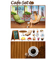 Woman hanging out in the cafe vector image vector image