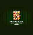 5 years anniversary banner five fifth vector image vector image