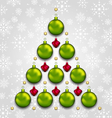 abstract tree made of Christmas taditional vector image vector image