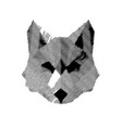 abstract wolf vector image vector image