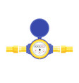 analog water meter icon in flat style sanitary vector image vector image