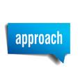 approach blue 3d speech bubble vector image vector image