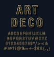 art deco vintage 3d alphabet set vector image