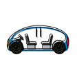 autonomuos car icon vector image