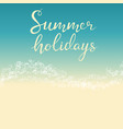 beach summer holiday template for flyer vector image vector image