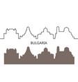 bulgaria vector image vector image