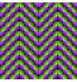Bulge Rhombuses Optical Seamless Pattern vector image