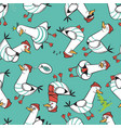 cartoon seagull seamless pattern design vector image vector image