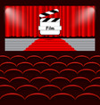 chairs cinema curtain film background vector image