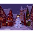Christmas night at town vector image