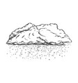 cloud with falling snowflakes monochrome vector image vector image