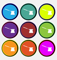 Coffee turk icon sign Nine multi colored round vector image vector image