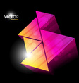 colorful triangles design vector image vector image