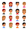 cute young man and woman avatars cartoon userpic vector image vector image