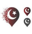 disintegrating dotted halftone muslim symbol vector image vector image