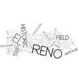 el reno field trip text background word cloud vector image vector image