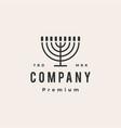 enorah hanukkah candle jews judaism hipster vector image vector image