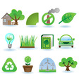 environment icon set vector image vector image