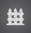 fence sketch logo doodle icon vector image vector image