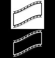 film strip shape elements with distortion for vector image vector image
