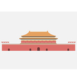 Forbidden City Gate of Heavenly Peace Tiananmen vector image vector image