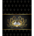 gold floral packing with heraldic element vector image vector image