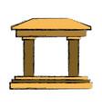 greek building columns vector image vector image