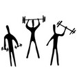 gym sport silhouettes vector image vector image