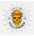 Halloween 2016 party label template with skull vector image vector image