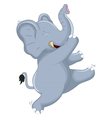 Happy Very Cute baby elephant dancing for your des vector image vector image