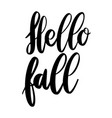 hello fall lettering phrase on white background