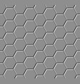 hexagonal paving slabs seamless pattern vector image