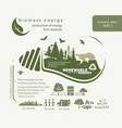 infographics renewable source of biomass energy vector image vector image