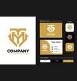 initial tm mt monogram logo design template vector image vector image